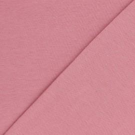 Jersey tubulaire Bio - vieux rose x 10cm
