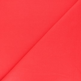Jersey tubulaire Bio - coquelicot x 10cm