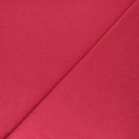 Jersey tubulaire Bio - rouge carmin x 10cm