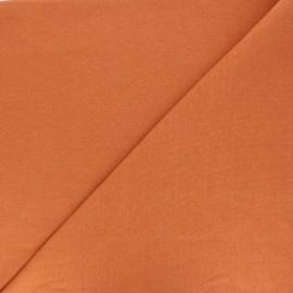 Organic tubular Jersey fabric - ginger red x 10cm
