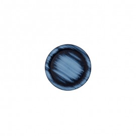 20 mm Polyester button - blue Carlyle