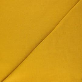Organic tubular Jersey fabric - mustard yellow x 10cm