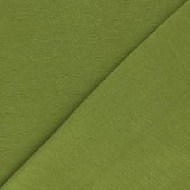 Organic tubular Jersey fabric - pistachio green x 10cm