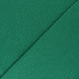 Organic tubular Jersey fabric - meadow green x 10cm