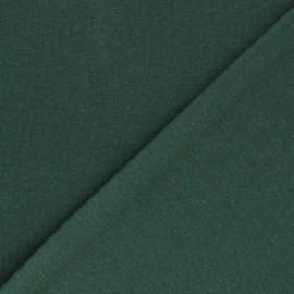 Organic tubular Jersey fabric - pine green x 10cm