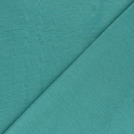 Organic tubular Jersey fabric - celadon green x 10cm