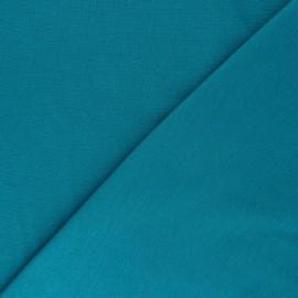 Organic tubular Jersey fabric - peacock green x 10cm