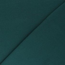 Organic tubular Jersey fabric - emerald green x 10cm