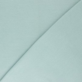 Organic tubular Jersey fabric - sea green x 10cm