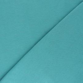 Organic tubular Jersey fabric - lagoon blue x 10cm