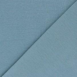 Organic tubular Jersey fabric - frozen blue x 10cm