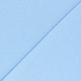 Organic tubular Jersey fabric - baby blue x 10cm
