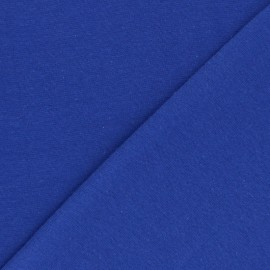 Organic tubular Jersey fabric - royal blue x 10cm