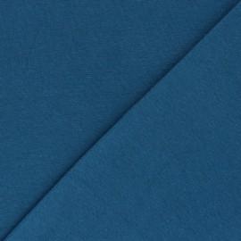 Organic tubular Jersey fabric - petrol blue x 10cm