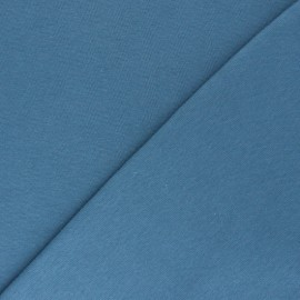 Jersey tubulaire Bio - bleu houle x 10cm