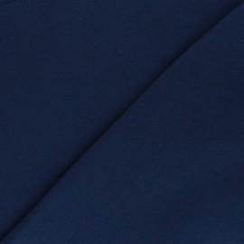 Organic tubular Jersey fabric - navy blue x 10cm