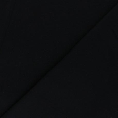 Organic tubular Jersey fabric - black x 10cm