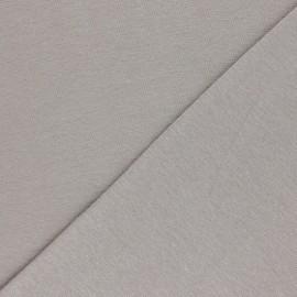 Organic tubular Jersey fabric - taupe grey x 10cm
