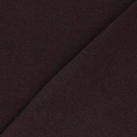 Organic tubular Jersey fabric - mocha x 10cm