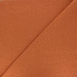Organic tubular Jersey fabric - amber x 10cm