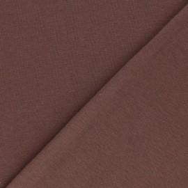 Jersey tubulaire Bio - chocolat x 10cm