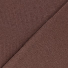 Organic tubular Jersey fabric - chocolate x 10cm