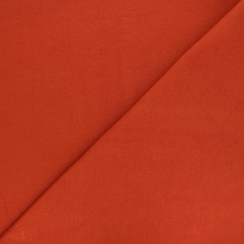 Organic tubular Jersey fabric - rust red x 10cm