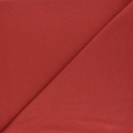 Organic tubular Jersey fabric - terracotta x 10cm