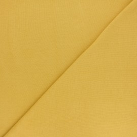 Organic tubular Jersey fabric - saffron yellow x 10cm