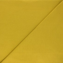 Organic tubular Jersey fabric - curry yellow x 10cm