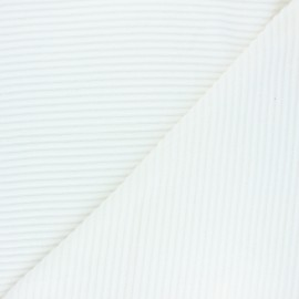 Thick ribbed velvet jersey fabric - raw x 10cm