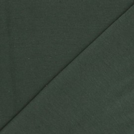 Organic tubular Jersey fabric - khaki green x 10cm