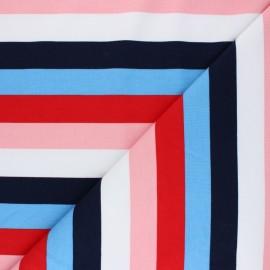 Tissu sweat léger Poppy à rayures Festive - frenchy x 10cm