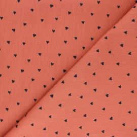 Poplin Poppy cotton fabric - rust red You're a Sweetheart x 10cm