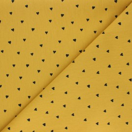 Poplin Poppy cotton fabric - yellow You're a Sweetheart x 10cm