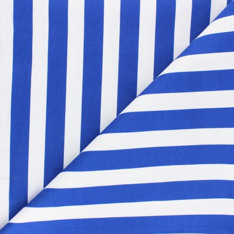 Lycra Gabardine Fabric - royal blue Marinière x 10cm