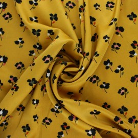 Tissu satin élasthanne Lola by Penelope® - jaune x 10cm