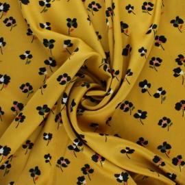 Tissu satin polyester élasthanne Lola by Penelope® - jaune x 10cm
