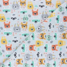 Tissu jersey Poppy Cool Glasses - gris x 10cm