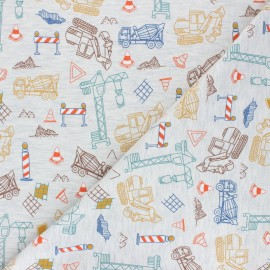Poppy Jersey fabric - molted grey Construction Place x 10cm