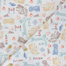 Tissu jersey Poppy Construction Place - gris chiné x 10cm