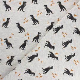 Poppy Jersey fabric - molted grey Dino x 10cm