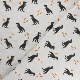 Tissu jersey Poppy Dino - Gris chiné x 10cm