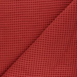 Tissu piqué de coton nid d'abeille - tomette x 10cm