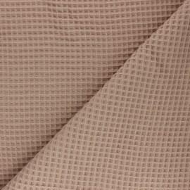 Waffle stitch cotton fabric - beige x 10cm