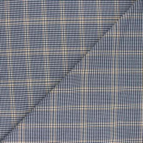 Polyviscose elastane fabric - blue Barbican x 10cm