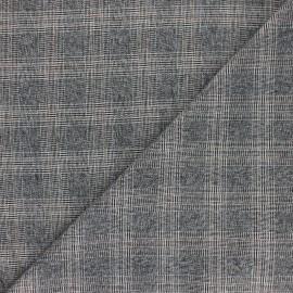 Polyviscose elastane fabric - grey Watford x 10cm