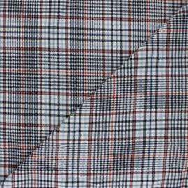 Polyviscose elastane fabric - blue Hoxton x 10cm