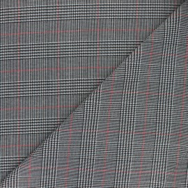 Tissu polyviscose élasthanne Hackney - rouge x 10cm