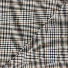 Polyviscose elastane fabric - camel Finsbury x 10cm